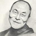 Portré ajándékba, Képzőművészet, Grafika, Rajz, Fotó, grafika, rajz, illusztráció, Dalai Lámáról készült portré. A/3-as, művész papírra, grafittal. Ha szeretnél ehhez hasonló portrét..., Meska