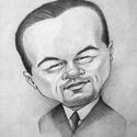 Leó, az Oscarra való!, Képzőművészet, Grafika, Rajz, Fotó, grafika, rajz, illusztráció, Sokan izgultak Leonardo DiCaprioért, hogy megkapja végre a hőn áhított Oscar díjat. Egy karikatúráv..., Meska