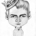 Joffrey Baratheon, Képzőművészet, Grafika, Rajz, Fotó, grafika, rajz, illusztráció, Karikatúra az ifjú utódról a Trónok harca sorozatból.  Portért vagy karikatúrát szeretnél ajándékoz..., Meska