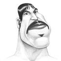 Anthony Kiedis karikatúra, Képzőművészet, Grafika, Rajz, Fotó, grafika, rajz, illusztráció, Karikatúra vagy portré fotóról, pár nap alatt. A/5-ös mérettől A/2-esig, egy vagy több személyről, ..., Meska