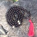 Onix mala jade osztókkal rózsafa guruval, Ékszer, Mindenmás, Vallási tárgyak, A maláim 90%-ban megrendelésre készülnek, tehát itt már gazdára talált malákat láthatsz.  Ha valamel..., Meska
