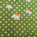 Pöttyös bevásárló szatyor, Táska, Szatyor, Vidám, kamilla virágos zöld pöttyös bevásárló szatyor hétköznapokra.  Anyaga erős vászon..., Meska