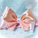 ,Heartbeat' - Masnis Újszülött Hajpánt (1db), Ruha & Divat, Babaruha & Gyerekruha, Babafotózási ruha és kellék, Varrás, Kedves kis hajpánt született a legkisebbeknek :) A kötött gumipánt 35-38cm kerületű, és finom puha ..., Meska