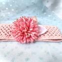 ,Blooming Love' - Virágos Újszülött Hajpánt (1db), Ruha & Divat, Babaruha & Gyerekruha, Babafotózási ruha és kellék, Varrás, Aranyos, virágos hajpántot varrtam pici babának fotózásra vagy babaváró ajándéknak :) A pánt finom,..., Meska