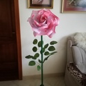 Óriás álló virág, Dekoráció, Esküvő, Otthon, lakberendezés, Ünnepi dekoráció, Festett tárgyak, Papírművészet, Egyedi dekorációt szeretnél? Ez az óriás virág biztosan elnyeri mindenki tetszését.Szép háttere leh..., Meska