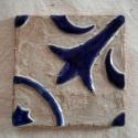 """Kézzel készült archaikus csempe - \""""Provence\"""", Otthon, lakberendezés, Konyhafelszerelés, Képzőművészet, Dekoráció, Kerámia, Teljes egészében egyedileg kézzel készített csempék. Nincs két egyforma darab.   A csempék domború ..., Meska"""