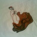 Spanyol táncosnő riseliő hímzéssel