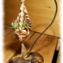 Makramé virágtartó asztali dísz változat, Ajándéknak kiváló asztali dísz! Rendelhető! ...