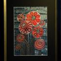 Mozaikos buzsáki fantázia, Képzőművészet, Festmény, Akril, Akril festmény, farostra készítve. Mérete - kerettel együtt 30x40 cm., Meska
