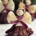 Lótuszos angyalok 3, Dekoráció, Ünnepi dekoráció, Karácsonyi, adventi apróságok, Karácsonyfadísz, Fonás (csuhé, gyékény, stb.),  3 db lótuszos angyalka Méretük:8-9 cm Köszönöm, hogy boltomban jártál! Mosollyal.Ilda , Meska
