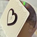 Esküvői  CD/DVD-tartó dupla , Egyedi tervezésű, készítésű CD/DVD-tartó. H...