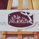 Virágos pénzátadó boríték , Esküvő, Naptár, képeslap, album, Képeslap, levélpapír, Meghívó, ültetőkártya, köszönőajándék, Csodaszép díszítéssel  készült pénzátadó boríték.  A letisztult ízléssel rendelkezőknek ajánlom.:)  ..., Meska