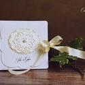 Esküvői  CD/DVD-tartó dupla / Névre szóló/, Dekoráció, Naptár, képeslap, album, Esküvő, Képeslap, levélpapír, Egyedi tervezésű, készítésű CD/DVD-tartó. Használhatod esküvői felvételek, baba- és kismamafotózás D..., Meska