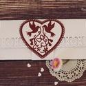 Pénzátadó boríték , Esküvő, Naptár, képeslap, album, Képeslap, levélpapír, Meghívó, ültetőkártya, köszönőajándék, Papírművészet, Csodaszép díszítéssel  készült pénzátadó boríték.  A letisztult ízléssel rendelkezőknek ajánlom.:) ..., Meska