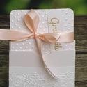 Pénzátadó boríték , Esküvő, Naptár, képeslap, album, Képeslap, levélpapír, Meghívó, ültetőkártya, köszönőajándék, Csodaszép díszítéssel  készült pénzátadó boríték.  A letisztult ízléssel rendelkezőknek ajánlom.:)  ..., Meska