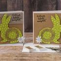 Húsvéti képeslapok, Naptár, képeslap, album, Dekoráció, Kívánj kellemes ünnepeket szeretteidnek egy egyedi design képeslappal, vagy add át a csokikat egy öt..., Meska