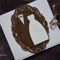 Esküvői  CD/DVD-tartó dupla , Dekoráció, Naptár, képeslap, album, Esküvő, Képeslap, levélpapír, Egyedi tervezésű, készítésű CD/DVD-tartó. Használhatod esküvői felvételek, baba- és kismamafotózás D..., Meska