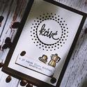 Kávés  képeslap, Dekoráció, Naptár, képeslap, album, Képeslap, levélpapír, Egyedi, kézzel készült képeslap. Domborított,csiszolt, minőségi papírokkal díszítve. A csomag 1 db k..., Meska