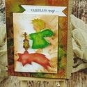 Varázslatos nap, Dekoráció, Naptár, képeslap, album, Képeslap, levélpapír, Egyedi, kézzel készült képeslap. A csomag 1 db képeslapot és borítékot tartalmaz. Mérete: 13,5X15 cm..., Meska