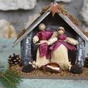 Betlehem4  , Dekoráció, Ünnepi dekoráció, Karácsonyi, adventi apróságok, Karácsonyi dekoráció, Fonás (csuhé, gyékény, stb.),  Karácsonyi Betlehem. Mérete: kb.25X15 cm  Jó lenne, ha ma minden karácsonyfa alatt újra Betlehem l..., Meska