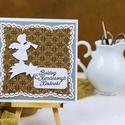 Karácsonyi képeslap, Dekoráció, Naptár, képeslap, album, Ünnepi dekoráció, Karácsonyi, adventi apróságok, Egyedi, kézzel készült képeslap. Domborított,csiszolt, minőségi papírokkal díszítve. A csomag 1 db k..., Meska