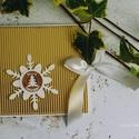 Karácsonyi CD/DVD-tartó dupla , Dekoráció, Naptár, képeslap, album, Ünnepi dekoráció, Karácsonyi, adventi apróságok, Egyedi tervezésű, készítésű CD/DVD-tartó. Dupla CD tárolására alkalmas , Meska