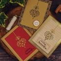 Karácsonyi képeslap, Dekoráció, Naptár, képeslap, album, Karácsonyi, adventi apróságok, Ünnepi dekoráció, Egyedi, varrott,  kézzel készült képeslap. 3D-s, minőségi papírokkal díszítve. A csomag 3 db képesla..., Meska