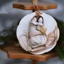 Nagyon együtt, Dekoráció, Ünnepi dekoráció, Karácsonyi, adventi apróságok, Karácsonyfadísz, Betlehem. Akasztós  változat. Köszönöm, hogy boltomban jártál! Mosollyal:Ilda, Meska