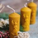 Angyalos gyertya, Dekoráció, Karácsonyi, adventi apróságok, Otthon, lakberendezés, Ünnepi dekoráció, Gyertya-, mécseskészítés, A méz illatát, a méhek szorgalmát , a nyári nap ☀️ melegét... és szívből jövő szeretetet ❤️ rejti m..., Meska