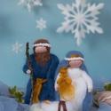 Gyapjú Betlehem, Dekoráció, Karácsonyi, adventi apróságok, Ünnepi dekoráció, Karácsonyi dekoráció,  Karácsonyi Betlehem.   Jó lenne, ha ma minden karácsonyfa alatt újra Betlehem lenne, így eljutna az..., Meska