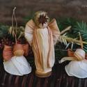 3 angyal, Dekoráció, Karácsonyi, adventi apróságok, Ünnepi dekoráció, Karácsonyi dekoráció,  Karácsonyi Betlehem+ 2 angyalka Mérete: kb.15 cm Jó lenne, ha ma minden karácsonyfa alatt újra Betl..., Meska