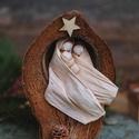 Kókuszdiós betlehem, Dekoráció, Karácsonyi, adventi apróságok, Ünnepi dekoráció, Karácsonyi dekoráció, Egzotikus termésben elhelyezett Betlehem., Meska