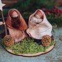 Betlehem4  , Dekoráció, Karácsonyi, adventi apróságok, Ünnepi dekoráció, Karácsonyi dekoráció, Lótuszból és csuhéból készült Betlehem.  Jó lenne, ha ma minden karácsonyfa alatt újra Betlehem lenn..., Meska