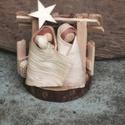 Kicsi Betlehem2, Fából készült.....mini Betlehem. Mérete: 9x9 ...