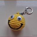 Smile kulcstaró, Dekoráció, Pamutfonalból készült kulcstartó.  Személyes átvétel Budapesten és Dányban lehetséges., Meska