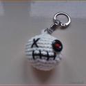 Zombi kulcstaró, Dekoráció, Horgolás, Horgolt kulcstartó, több méretben is rendelhető. , Meska