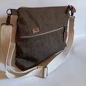 Farmer táska Unisex táska  laptoptaska, Táska, Válltáska, oldaltáska,  Az örök divat kihagyhatatlan kiegészítője ez a farmer táska . Ennek a színe barnás-szürke  Unisex d..., Meska