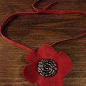 Piros virág bőrnyaklánc nyaklánc bőrnyaklánc, Ékszer, óra, Nyaklánc, Piros virág bőrnyaklánc nyaklánc bőrnyaklánc  Ha szereted a szép és mutatós nyakláncot akkor neked a..., Meska