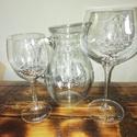 Pohár, Esküvő, Férfiaknak, Otthon & lakás, Gravírozás, pirográfia, Gravírozott üveg poharak különböző méretű, formájú rendelhető, egyedi mintával felirattal. , Meska