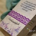 Esküvői meghívó, Esküvő, Meghívó, ültetőkártya, köszönőajándék, Papírművészet, Virágmintás keretbe foglalt esküvői meghívó, könyvszerűen nyitható formában. Az alját egy vékony cs..., Meska