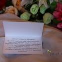 Esküvői meghívó, Esküvő, Meghívó, ültetőkártya, köszönőajándék, Papírművészet, Rózsa mintás, felnyíló meghívó, mely egy szabvány méretű borítékban is elfér. Jobb felső sarkát egy..., Meska