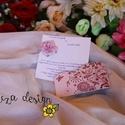 """Esküvői meghívó, Esküvő, Meghívó, ültetőkártya, köszönőajándék, Papírművészet, Egy lapos meghívó, mely egy díszes """"papucsban"""" lapul és egy papírvirág díszíti. Virággal: 600 Ft/db..., Meska"""