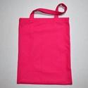 Normál méretű pink színű vászontáska rövid pánttal, Táska, Szatyor, Normál méretű pink színű vászontáska / bevásárlótáska, rövid pánttal, belül kulcstartóval.  A táska ..., Meska