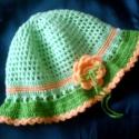 Barackvirág kalapocska, Mutatós kislány kalap a tavasz színeiben. Kétf...