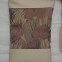 Elegáns   textilbőr táska, Táska, Válltáska, oldaltáska, Tarisznya, Varrás, A textilbőrt erős butorvászon disziti az elején.Bélésében egy cipzáras és egy nyitott osztott zseb ..., Meska