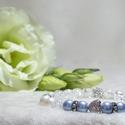 Swarovski Pearl gyógyhatású, Ékszer, Karkötő, Ékszerkészítés, Swarovski kristály gyöngy , roppantott hegyikristály karkötő, cirkonia ezüst szívvel, schamballa gö..., Meska