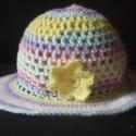 """Lányka kalap, Ruha, divat, cipő, Gyerekruha, Kendő, sál, sapka, kesztyű, Horgolás, Kézzel horgolt őszi-tavaszi lányka kalap, """"Cicibebe"""" fantázianevű, színátmenetes kézimunka fonalból..., Meska"""