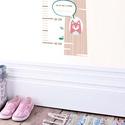 Magasságmérő, Dekoráció, Falmatrica, Papírművészet, Dekoráld a falad a debaba KRAFT magasságmérővel, ami amellett hogy egy hasznos eszköz, a gyerekszob..., Meska