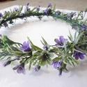 Hajdísz koszorú, Esküvő, Hajdísz, ruhadísz, Menyasszonyi ruha, Esküvői csokor, Virágkötés, Gyönyörű provance-i stílusú virágkoszorú, művirából. Esküvőre, vagy kismama fotózásra csodás kiegés..., Meska