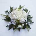 Esküvői selyemvirág asztaldísz, Esküvő, Esküvői dekoráció, Kb. 25 cm külső átmérőjű elegáns selyemvirág asztaldísz.  Személyes átvétel X. kerületben, vagy post..., Meska